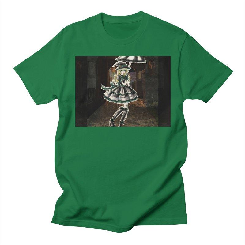 Green Slythern Halloween Witch Men's Regular T-Shirt by Deanna Kei's Artist Shop