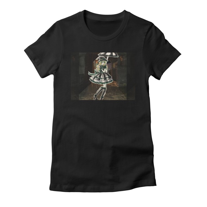 Green Slythern Halloween Witch Women's Fitted T-Shirt by Deanna Kei's Artist Shop