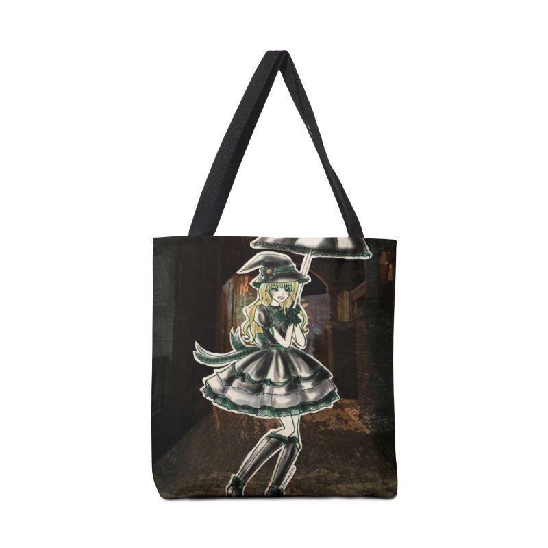 Green Slythern Halloween Witch Accessories Tote Bag Bag by Deanna Kei's Artist Shop