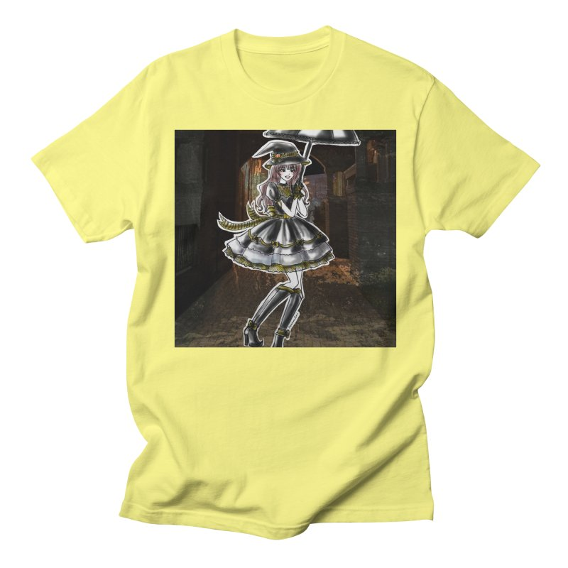 Yellow Hufflpuff Halloween Witch Men's Regular T-Shirt by Deanna Kei's Artist Shop