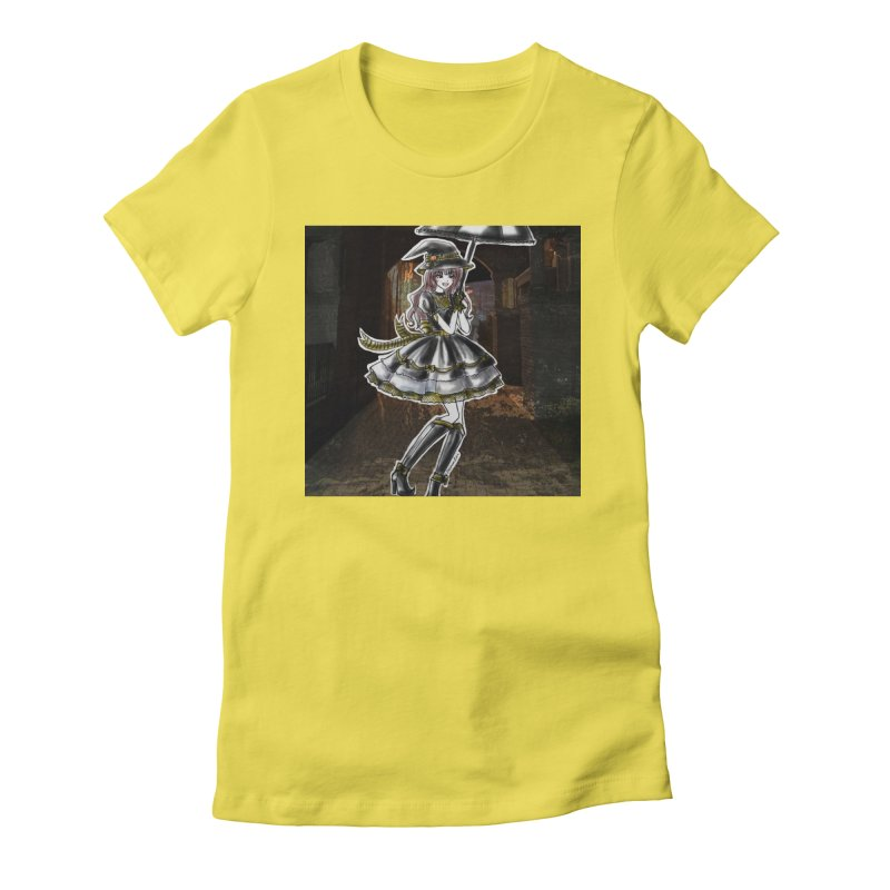 Yellow Hufflpuff Halloween Witch Women's Fitted T-Shirt by Deanna Kei's Artist Shop