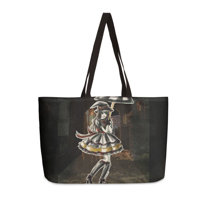 Red Gryffndor Halloween Witch Accessories Weekender Bag Bag by Deanna Kei's Artist Shop