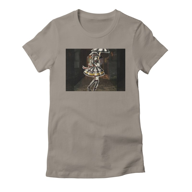Red Gryffndor Halloween Witch Women's Fitted T-Shirt by Deanna Kei's Artist Shop