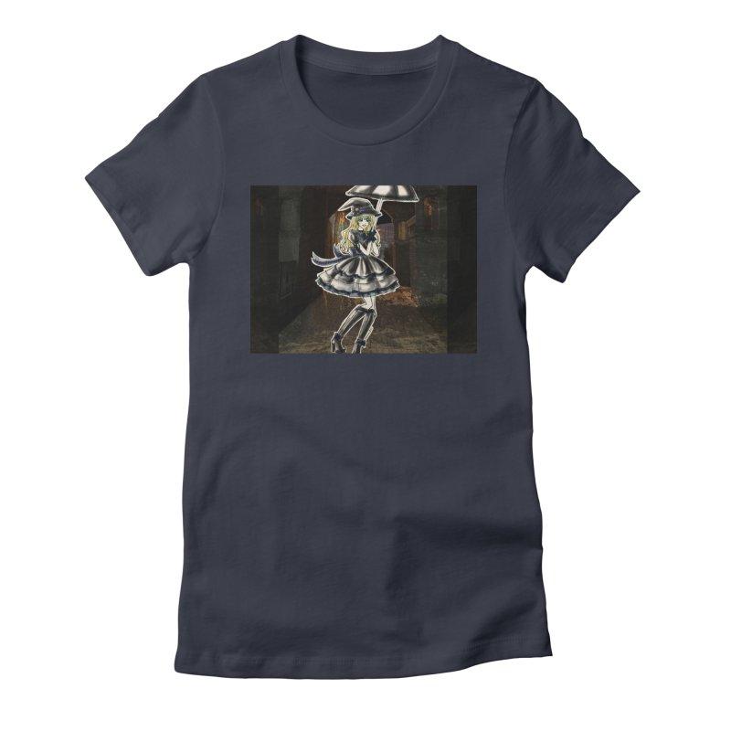 Blue Ravenclw Halloween Witch Women's Fitted T-Shirt by Deanna Kei's Artist Shop