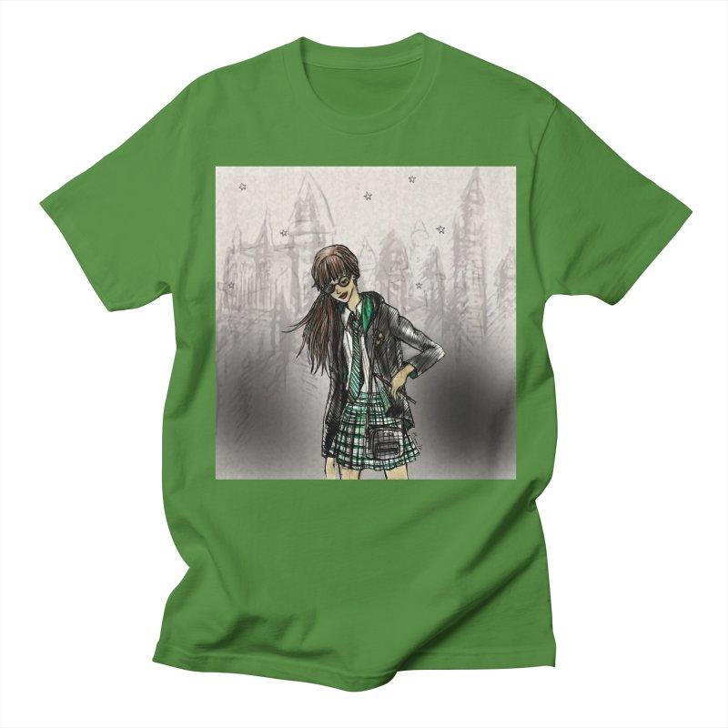 Slythern Wizardy Student Men's Regular T-Shirt by Deanna Kei's Artist Shop