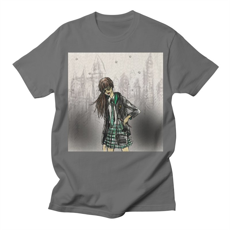 Slythern Wizardy Student Men's T-Shirt by Deanna Kei's Artist Shop
