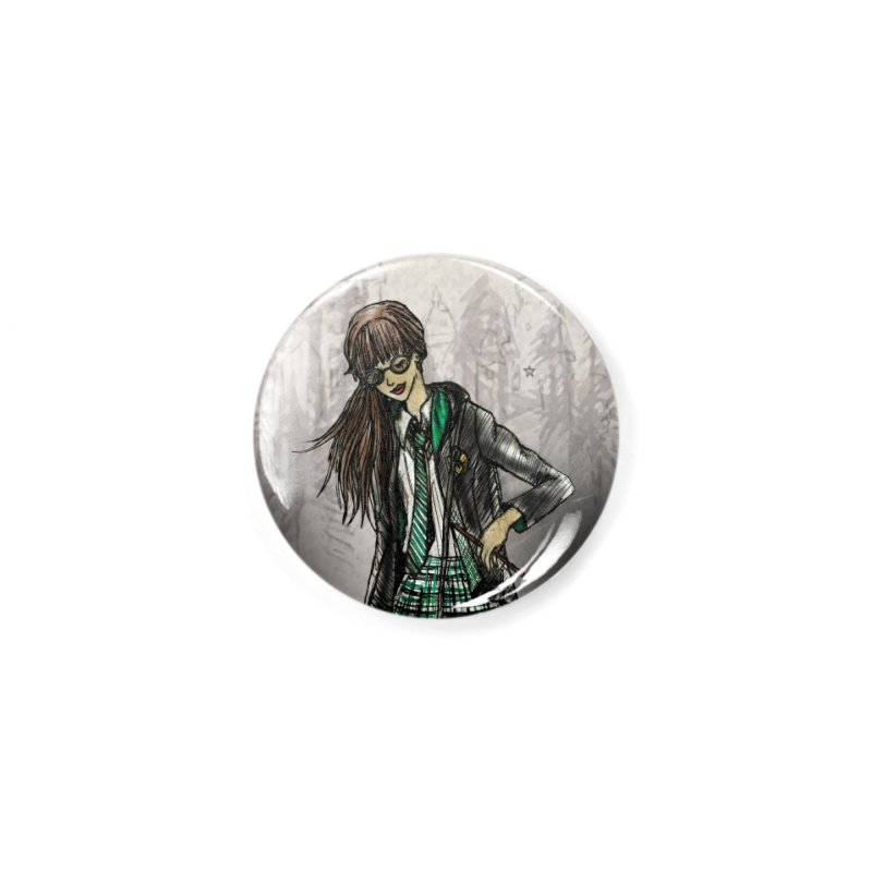 Slythern Wizardy Student Accessories Button by Deanna Kei's Artist Shop