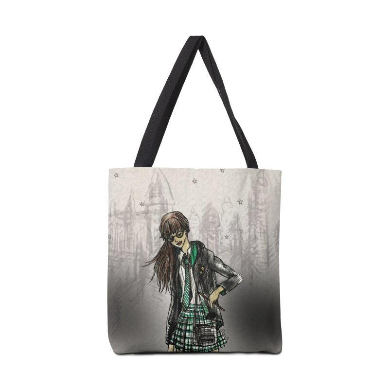 Slythern Wizardy Student Accessories Tote Bag Bag by Deanna Kei's Artist Shop