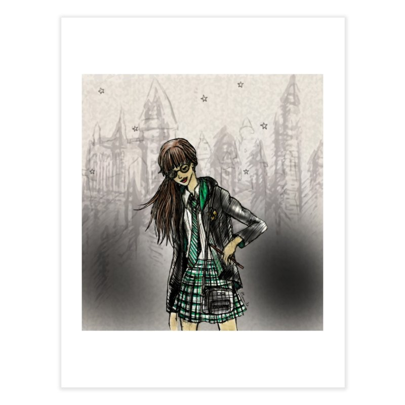 Slythern Wizardy Student Home Fine Art Print by Deanna Kei's Artist Shop
