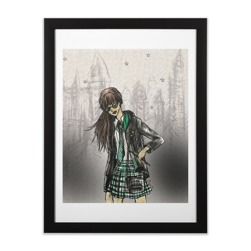 Slythern Wizardy Student Home Framed Fine Art Print by Deanna Kei's Artist Shop