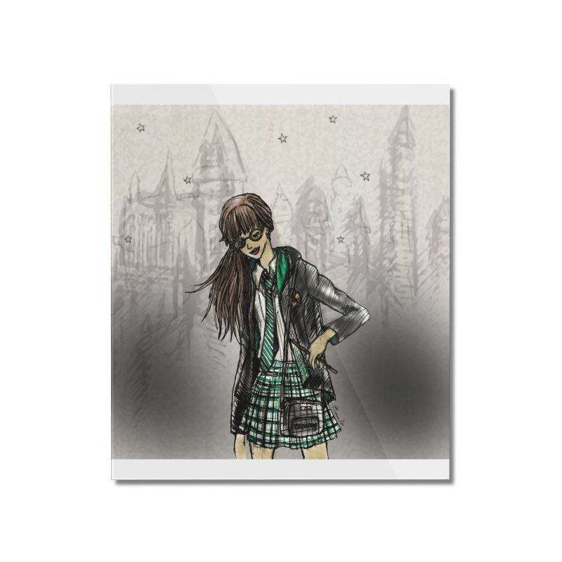 Slythern Wizardy Student Home Mounted Acrylic Print by Deanna Kei's Artist Shop