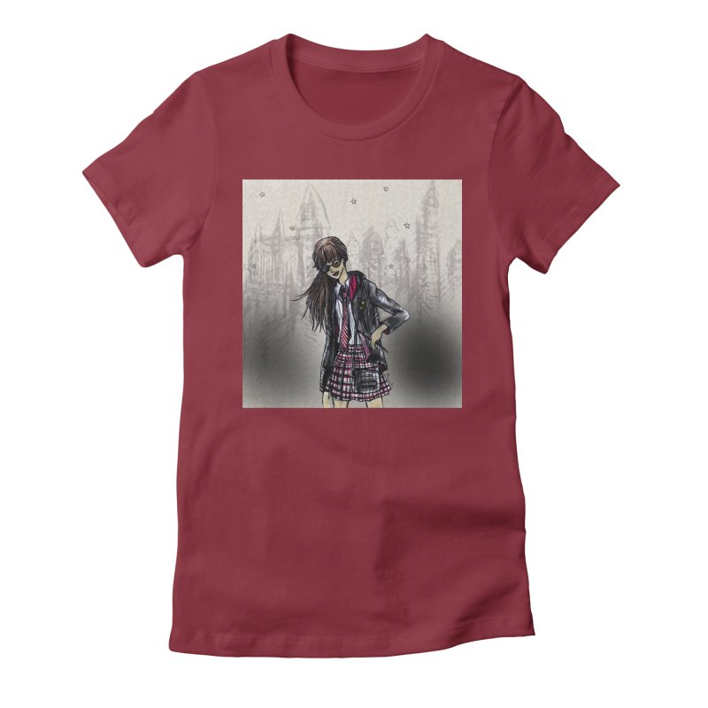 Gryffindr Wizardry Student Women's Fitted T-Shirt by Deanna Kei's Artist Shop