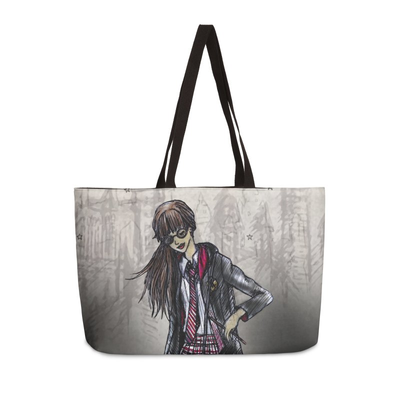 Gryffindr Wizardry Student Accessories Weekender Bag Bag by Deanna Kei's Artist Shop