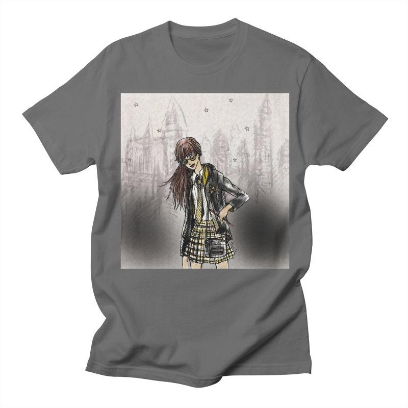 Hufflepff Wizardry Student Men's T-Shirt by Deanna Kei's Artist Shop