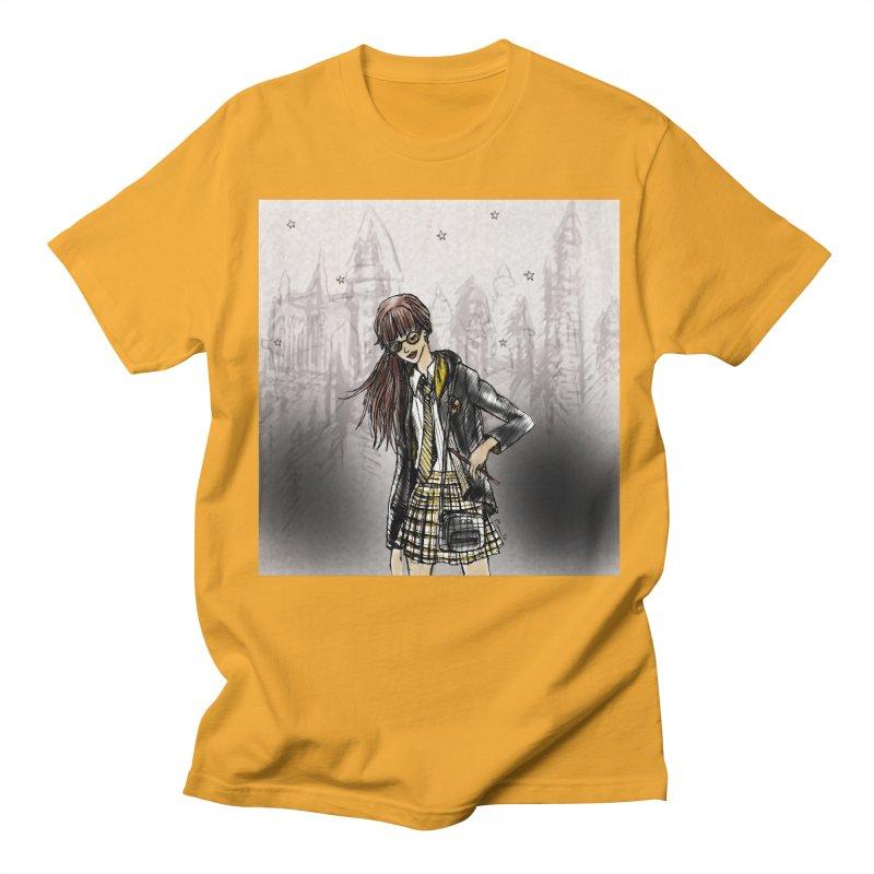 Hufflepff Wizardry Student Men's Regular T-Shirt by Deanna Kei's Artist Shop