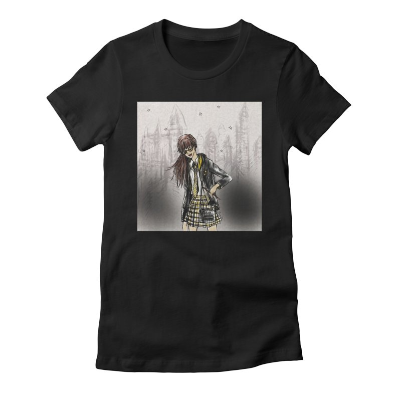 Hufflepff Wizardry Student Women's Fitted T-Shirt by Deanna Kei's Artist Shop