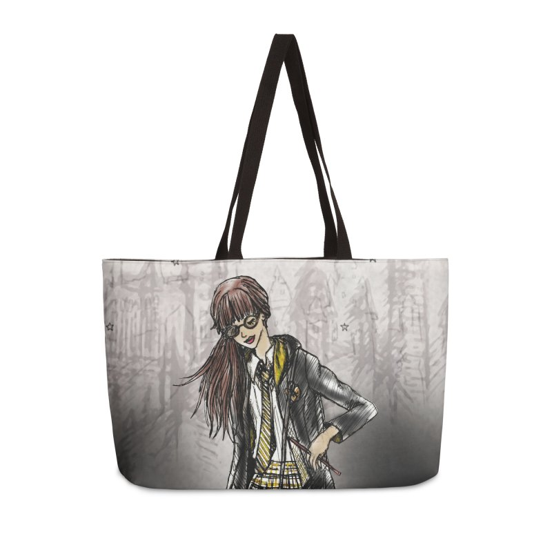 Hufflepff Wizardry Student Accessories Weekender Bag Bag by Deanna Kei's Artist Shop