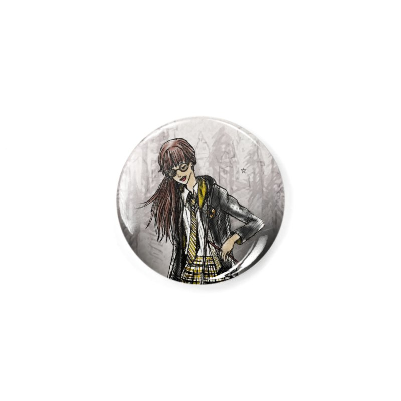 Hufflepff Wizardry Student Accessories Button by Deanna Kei's Artist Shop