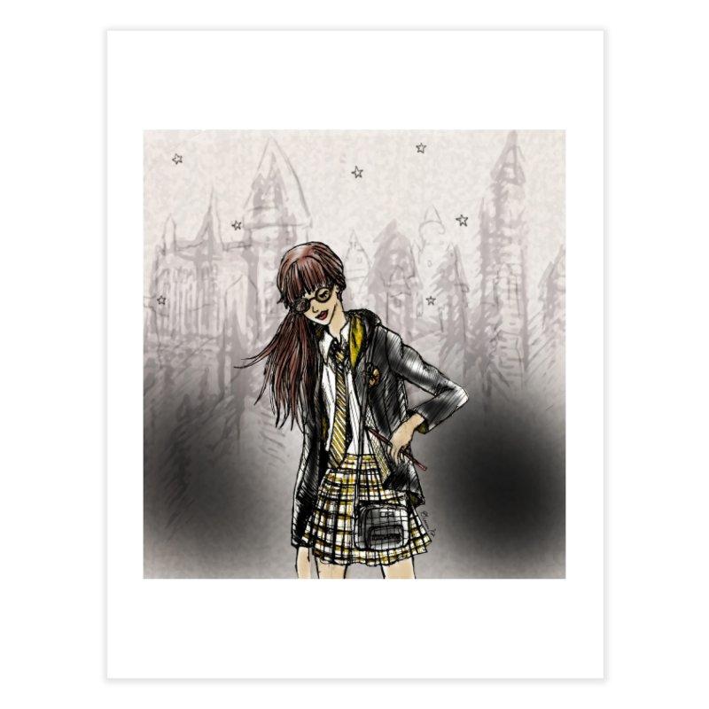 Hufflepff Wizardry Student Home Fine Art Print by Deanna Kei's Artist Shop