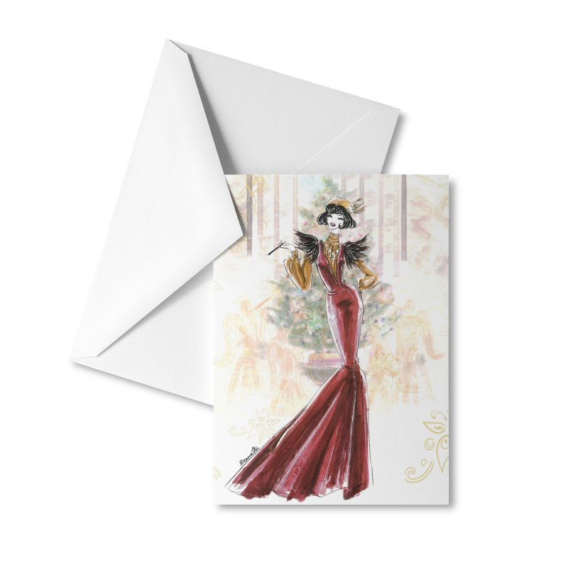 Merry Stylish Christmas Accessories Greeting Card by Deanna Kei's Artist Shop