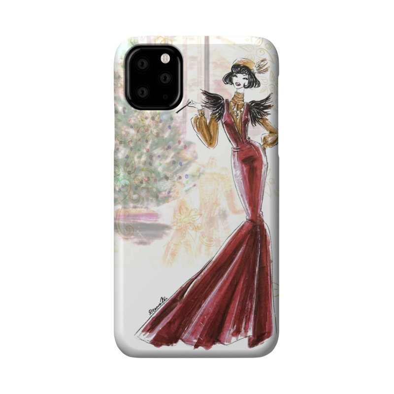 Merry Stylish Christmas Accessories Phone Case by Deanna Kei's Artist Shop
