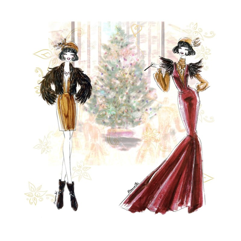 Merry Stylish Christmas by Deanna Kei's Artist Shop