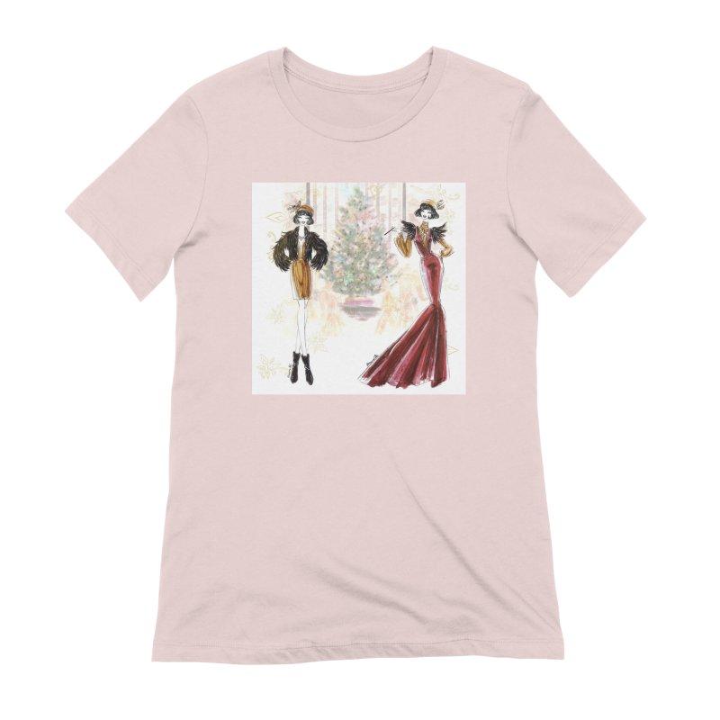 Merry Stylish Christmas Women's Extra Soft T-Shirt by Deanna Kei's Artist Shop