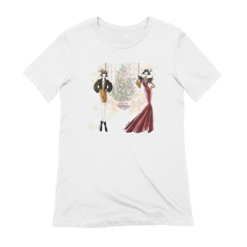 Merry Stylish Christmas Women's Extra Soft T-Shirt by Deanna Kei's Artist Shop