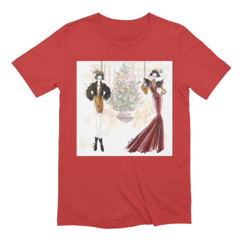 Merry Stylish Christmas Men's Extra Soft T-Shirt by Deanna Kei's Artist Shop