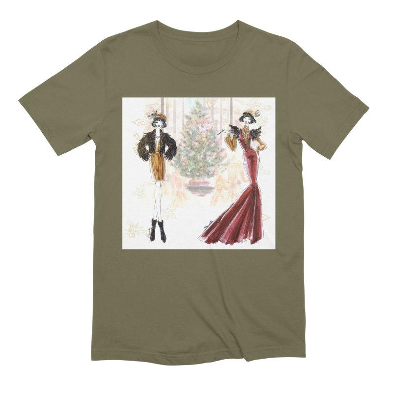 Merry Stylish Christmas Men's Extra Soft T-Shirt by Deanna Kei's Artist Shop