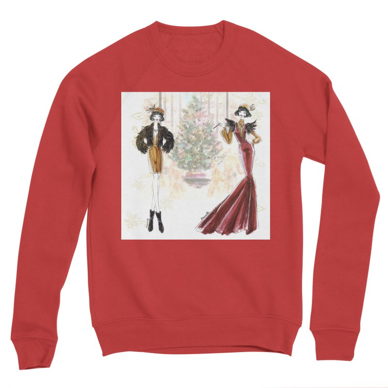 Merry Stylish Christmas Women's Sponge Fleece Sweatshirt by Deanna Kei's Artist Shop