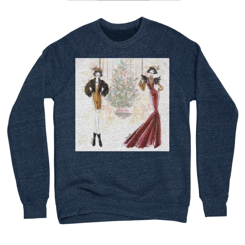 Merry Stylish Christmas Men's Sponge Fleece Sweatshirt by Deanna Kei's Artist Shop