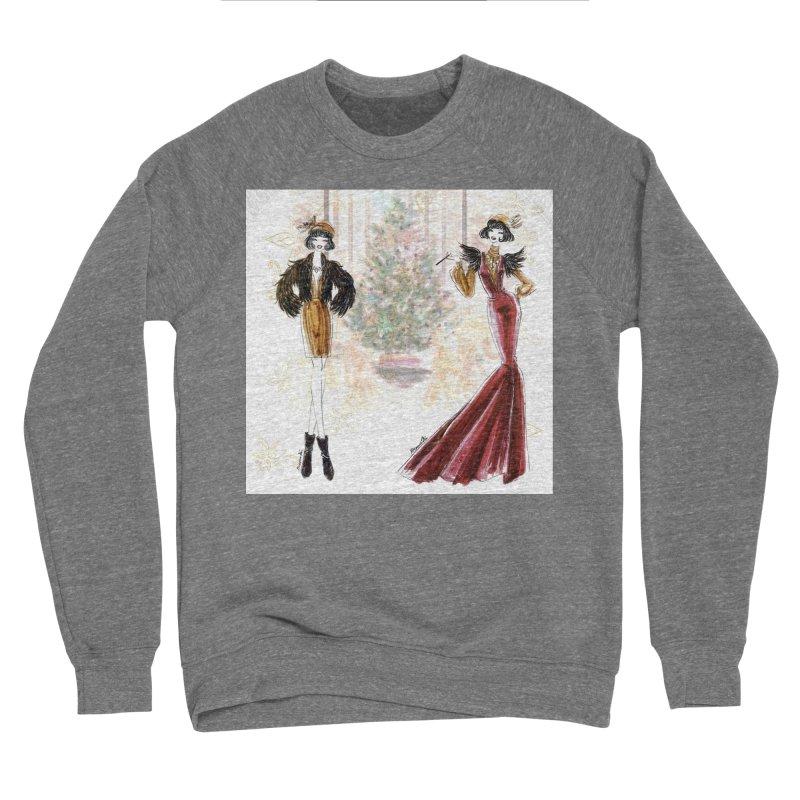 Merry Stylish Christmas Women's Sponge Fleece Sweatshirt by Deanna Kei's Artist Shop