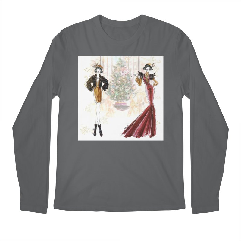 Merry Stylish Christmas Men's Regular Longsleeve T-Shirt by Deanna Kei's Artist Shop