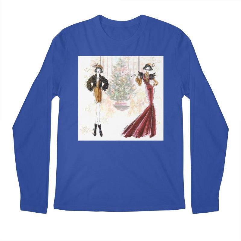 Merry Stylish Christmas Men's Regular Longsleeve T-Shirt by Deanna Kei's Artist Shop