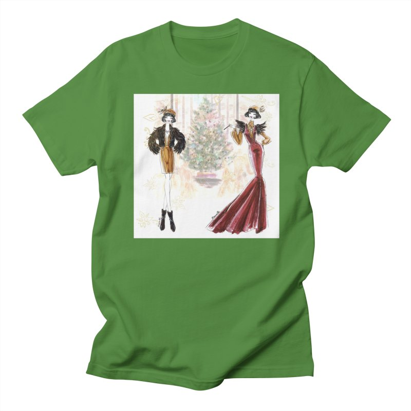 Merry Stylish Christmas Men's Regular T-Shirt by Deanna Kei's Artist Shop