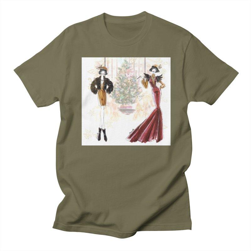 Merry Stylish Christmas Women's Regular Unisex T-Shirt by Deanna Kei's Artist Shop