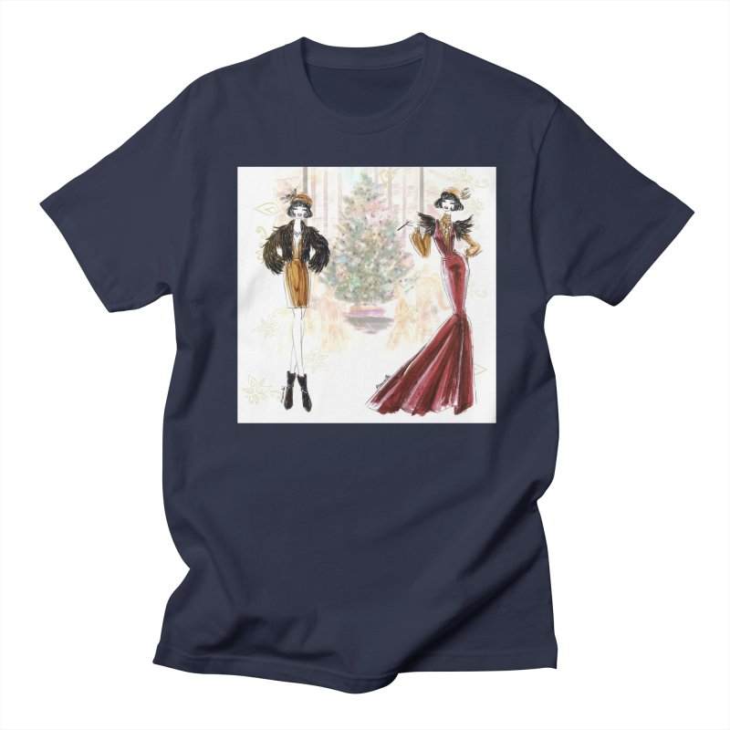 Merry Stylish Christmas Women's Regular Unisex T-Shirt by Deanna Kei's Artist Shop