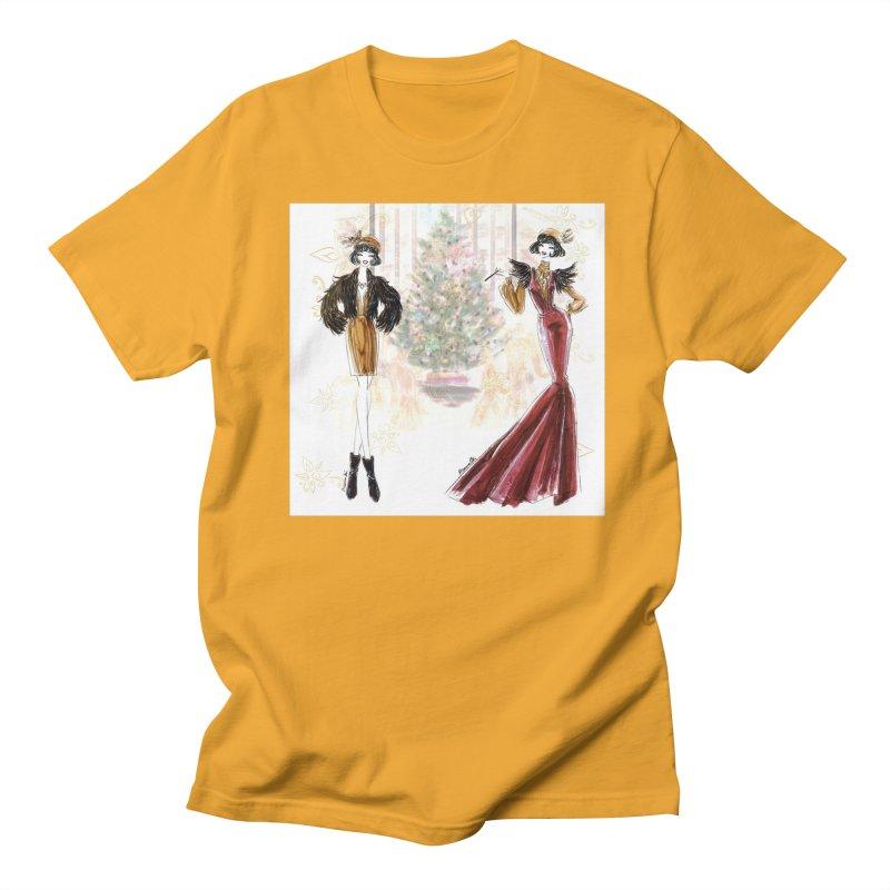 Merry Stylish Christmas Men's Regular T-Shirt by Deanna Kei's Artist Shop
