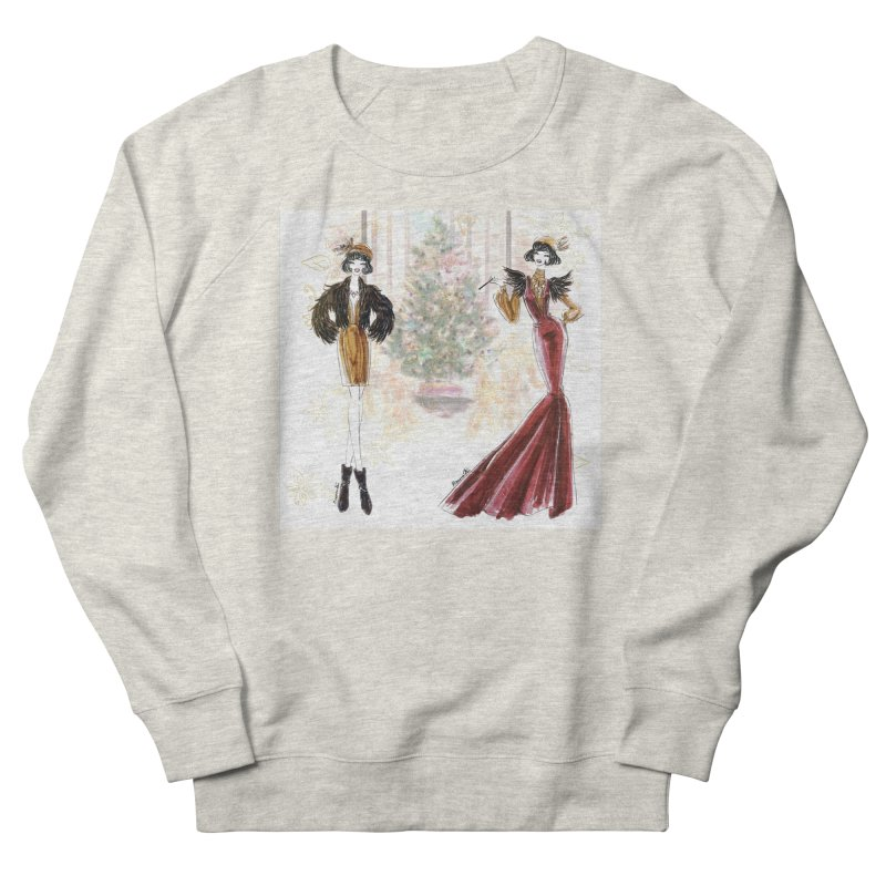 Merry Stylish Christmas Women's French Terry Sweatshirt by Deanna Kei's Artist Shop