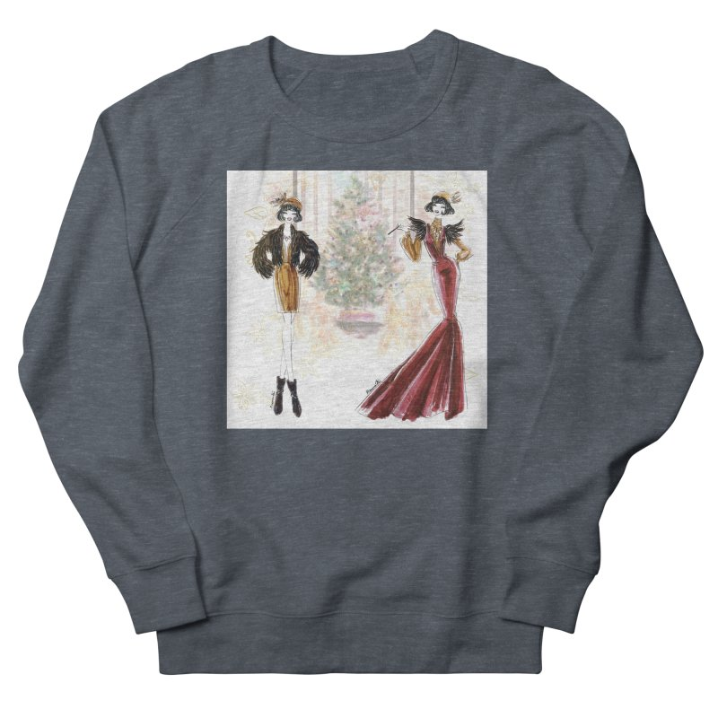 Merry Stylish Christmas Men's French Terry Sweatshirt by Deanna Kei's Artist Shop