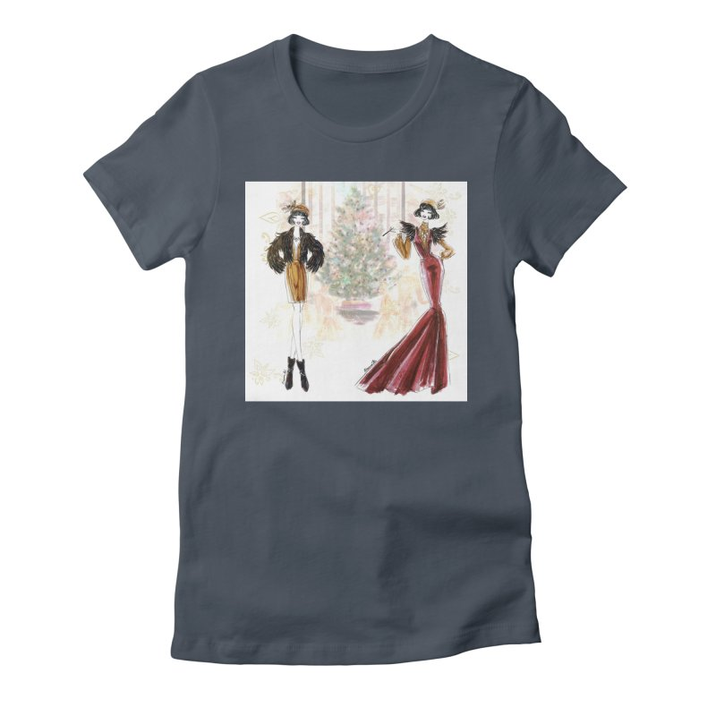 Merry Stylish Christmas Women's T-Shirt by Deanna Kei's Artist Shop
