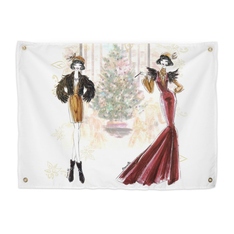 Merry Stylish Christmas Home Tapestry by Deanna Kei's Artist Shop