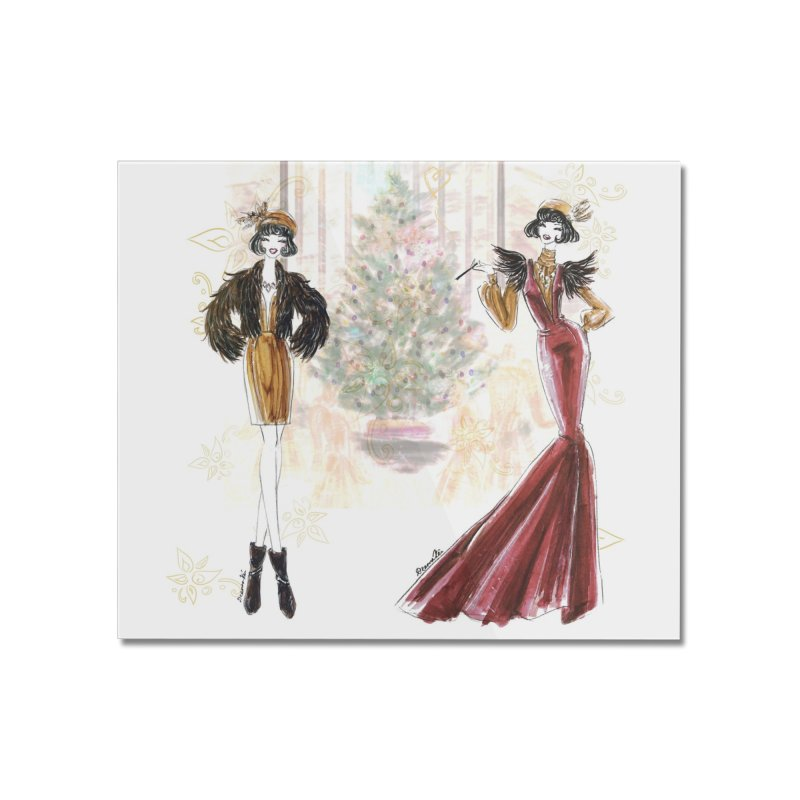 Merry Stylish Christmas Home Mounted Acrylic Print by Deanna Kei's Artist Shop