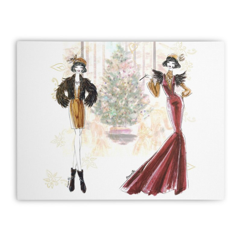 Merry Stylish Christmas Home Stretched Canvas by Deanna Kei's Artist Shop