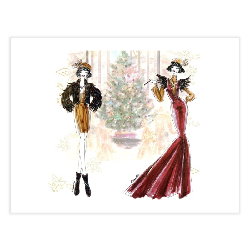 Merry Stylish Christmas Home Fine Art Print by Deanna Kei's Artist Shop