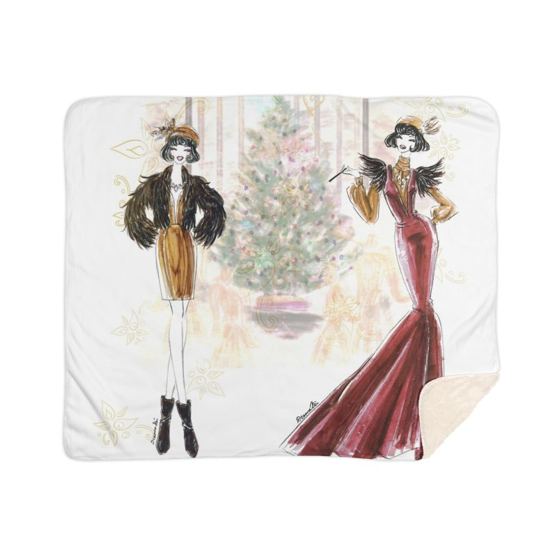 Merry Stylish Christmas Home Sherpa Blanket Blanket by Deanna Kei's Artist Shop