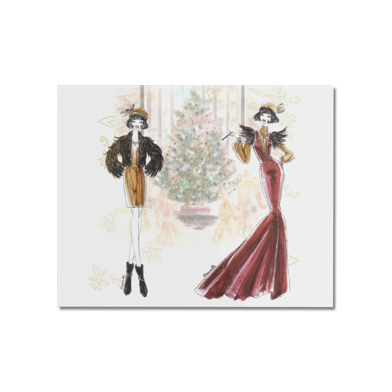 Merry Stylish Christmas Home Mounted Acrylic Print by Deanna Kei's Artist Shop