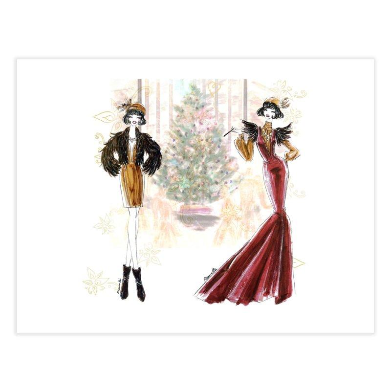 Merry Stylish Christmas Home Fine Art Print by Deanna Kei's Artist Shop