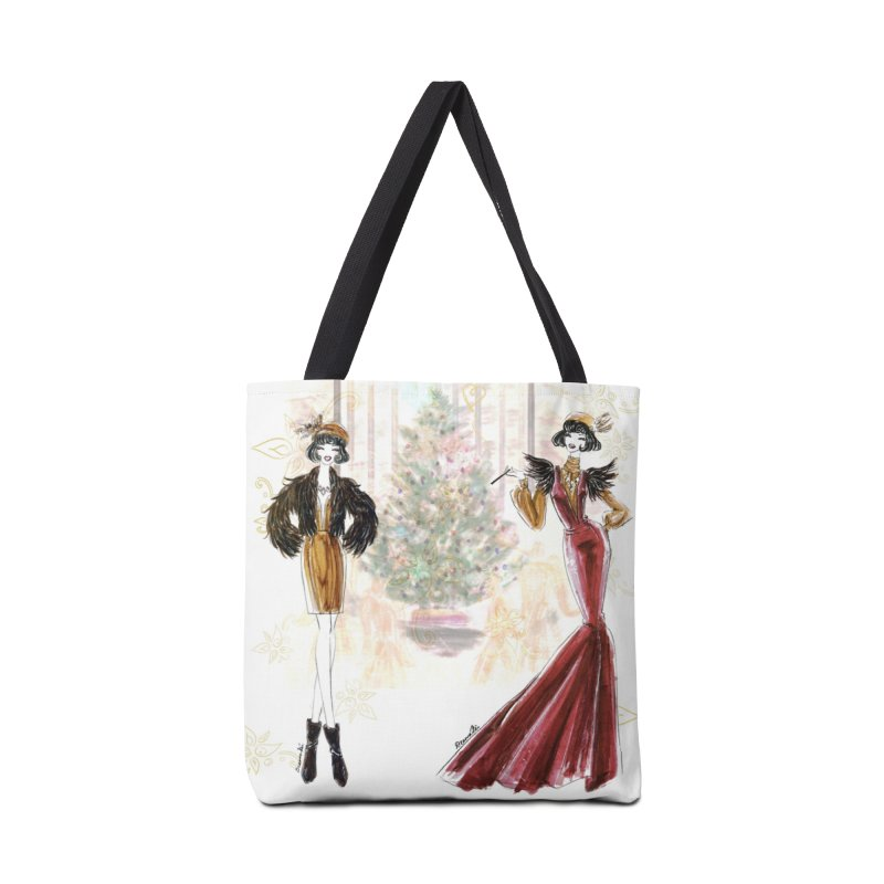 Merry Stylish Christmas Accessories Tote Bag Bag by Deanna Kei's Artist Shop